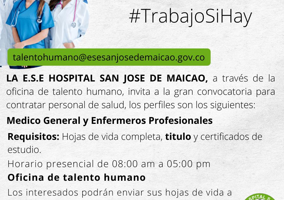 #TrabajoSiHay 🏥 | CONVOCATORIA N°3